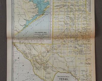 Texas state map Etsy