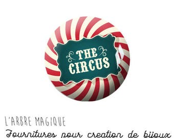 2 cabochons to glue glass 20 mm M677 circus