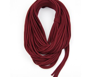 Statement Necklace, Infinity Scarf, Statement Jewelry, Travel Gift, Scarves for Women, Scarf Women, Travel Accessories, Maroon Scarf