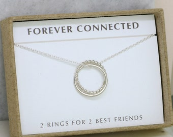 Best friends necklace, friendship necklace, gift for best friend, meaningful jewelry, birthday gift for best friend - Lilia