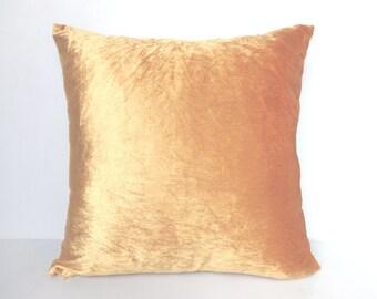 Gold velvet pillow cover- 18 inch- Festive Pillow Cover