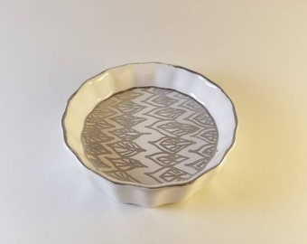 Silver Pattern jewelry dish
