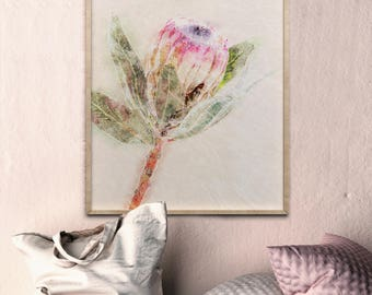 Watercolor Flower Prints Protea Wall Art Prints Protea Print Protea Flower Print Watercolor Wall Art Watercolor Flowers Watercolor Floral