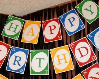 FULL SIZE UNO birthday party banner cardstock