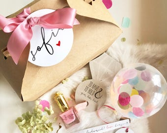 Diy do it yourself pop me balloon gift box will you be my set of 1 will you be my bridesmaid custom gift box how to solutioingenieria Choice Image