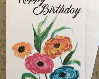 Item #106 Happy Birthday Greeting Card - May He grant you according to your heart's desire, and fulfill all your purpose. Psalm 20:4
