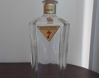 Seagram's Vintage Seven Crown Whiskey Bottle Decanter