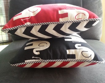 Reversible Decorative Roll Tide Pillow