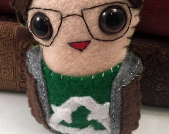 Leonard Hofstadter Big Bang Theory plushie (made to order)