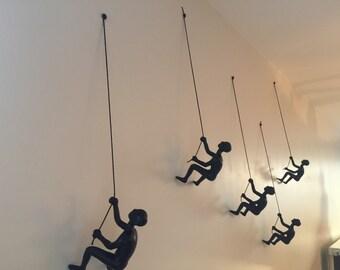 1 Piece Climbing Sculpture Wall Art Gift For Home Decor Interior Design Man  Contemporary Artwork Buy