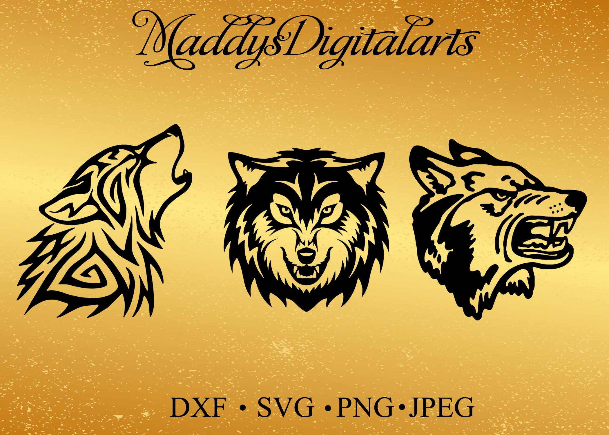wolf svg, wolf dxf, animal svg, jpg, png, dxf cutting files, clip ...