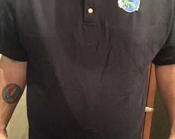 Grateful Dead embroidered golf polo shirt