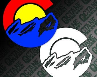 Colorado Decal, Colorado Sticker, Colorado Flag Sticker, Colorado Flag Decal