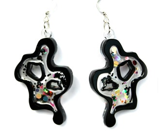 PANIKA Abstract earrings Black
