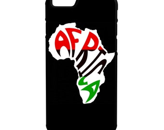 Africa Pan African  iPhone Galaxy Note HTC LG Protective Hybrid Rubber Hard Plastic Snap on Case Black