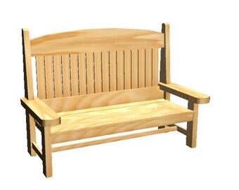 Modern Minimalist Hardwood Bench And Coffee Table Wood