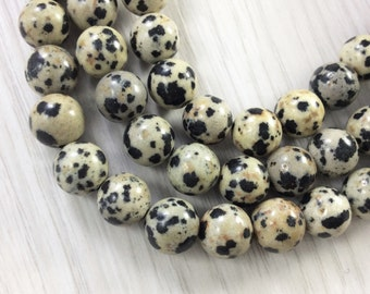 3 Full strands 8mm dalmation jasper round  beads wholesale for exclusive jewelry