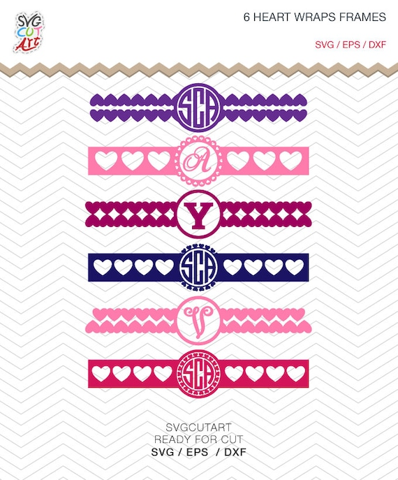 6 Heart Wraps For cover iPhone Charger Monogram Patterned Valentine ...