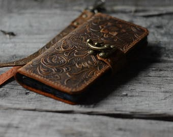 Handmade Samsung Galaxy  NOTE 8  Leather Wallet Case   NOTE 8 Leather case
