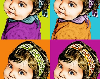 Custom fashion portrait pop art
