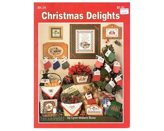 Christmas Delights Cross Stitch Booklet, Christmas Ornaments Cross Stitch, Christmas Decorations, Christmas Towels, Christmas Bread Cloths