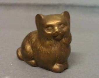 Brass Cat Figurine