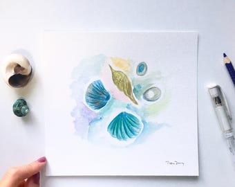 Ocean Deep Original Watercolor Painting