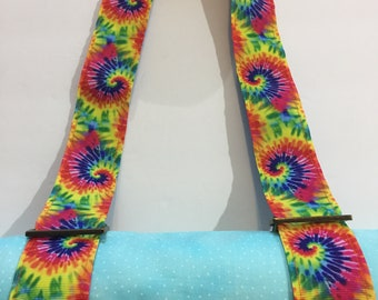 Tie Dye Yoga Mat Strap or All Purpose Carry Strap
