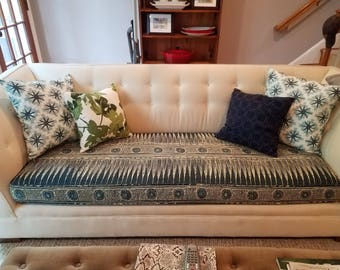 """Sofa Cushion Cover,24"""" x 68"""" x4.5"""",Your Fabric Selection Used,Includes Piping and Zipper.Made to Order,You Pay Shipping."""