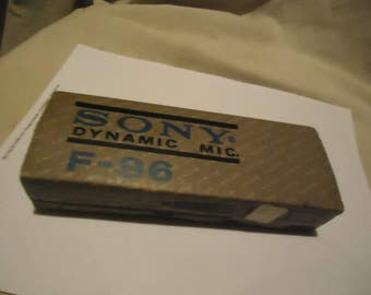Vintage Sony F-96 Dynamic Cable Microphone Music Stand Recording Stereo Radio, collectable
