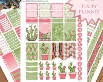 Cactus Planner Stickers - Happy Planner Stickers Printable - Weekly Planner - Stickers Set - Instant Download - Printable Planner - PDF
