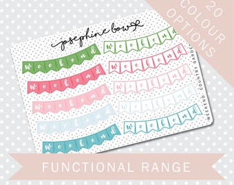 WEEKEND BANNER - Functional Stickers - Planner Stickers Matt