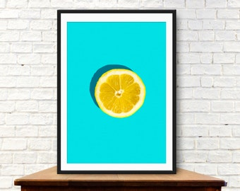 Fruit print, Fruit art, Lemon print,kitchen poster, kitchen prints, kitchen wall art, Kitchen photography,  kitchen art, kitchen wall decor