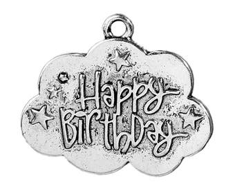 Pack of 10 Happy Birthday Charms (1662)