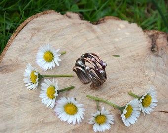 Copper Wire Ring - statement ring, wire ring, stacking ring, copper jewelry