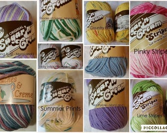Lily Sugar 'n Cream and Peaches and Cream Cotton Yarns - Lots of Colors to Choose From!