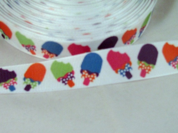 """Colorful Summer Popsicle Ribbon 7/8"""""""