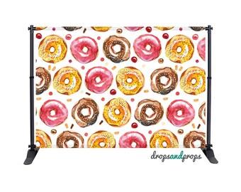 Watercolor Donuts - Photography Backdrop
