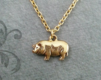 Gold pig necklace etsy pig necklace small pig jewelry gold necklace pig pendant necklace sow necklace farm animal necklace bacon mozeypictures Gallery