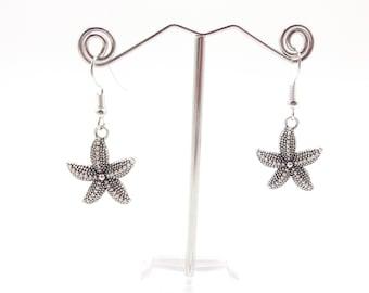Simple Starfish Dangle Earrings
