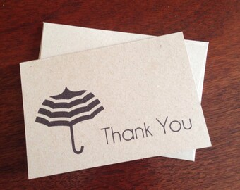 Umbrella Personalized Note Cards (set of 10)