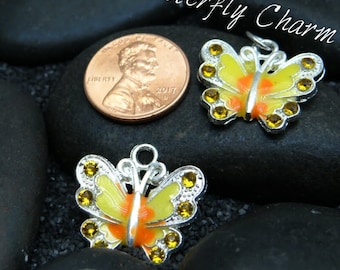 Butterfly Yellow Charm