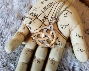 Triquetra necklace, witch