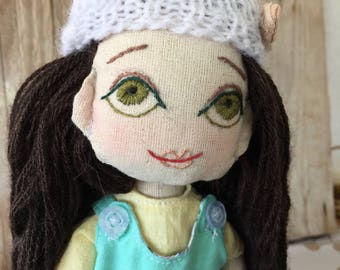 Natural cloth doll, Handmade cloth doll