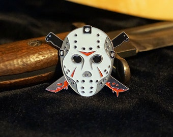 Friday the 13th Jason Voorhees Glow In The Dark Horror Enamel Pin