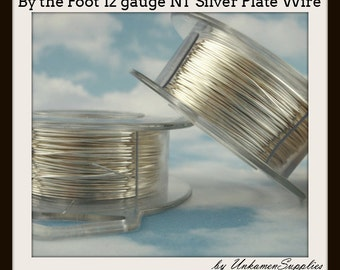 By the Foot 12 gauge Non Tarnish Silver Plated Wire - 100% Guarantee