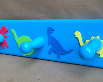 Dinosaur wooden coat rack - 3 hooks