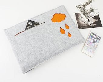 felt Macbook Air 13 sleeve, macbook pro sleeve, 13 inch Macbook sleeve, Macbook sleeve, macbook air case, Laptop sleeve, Laptop cover 025LG