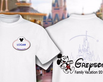 Disney Family Shirts - Customize it - Disney Cruise - Disney matching - Castmember - nametag - Disney Family Shirt - 2018