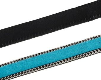 Approximately 1 m 10mm - SC57891 - sky blue velvet cord